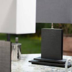 Lampe NAHUA en Naturalia graphite, A/J rect. 35 cm ardoise