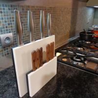 Porte-couteaux EQUILIBRE 10, Corian blanc & noir