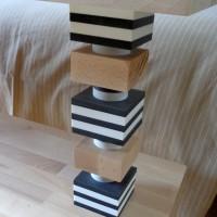 Totem blocs 3 matières, pour étagères LABYRINTHE sur mesures